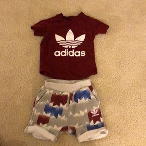 Adidas toddler 2 piece set